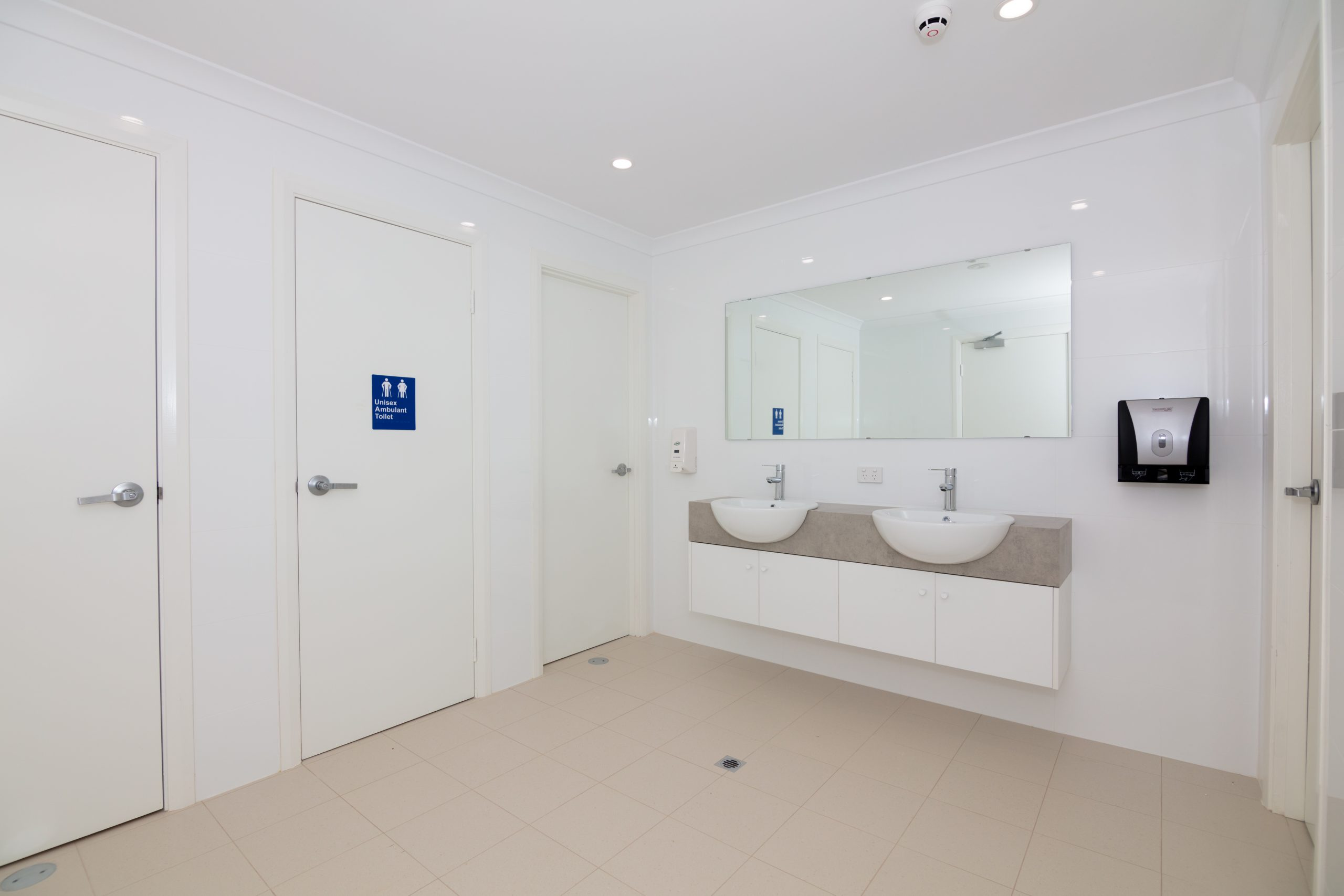 Communal toilets and showers